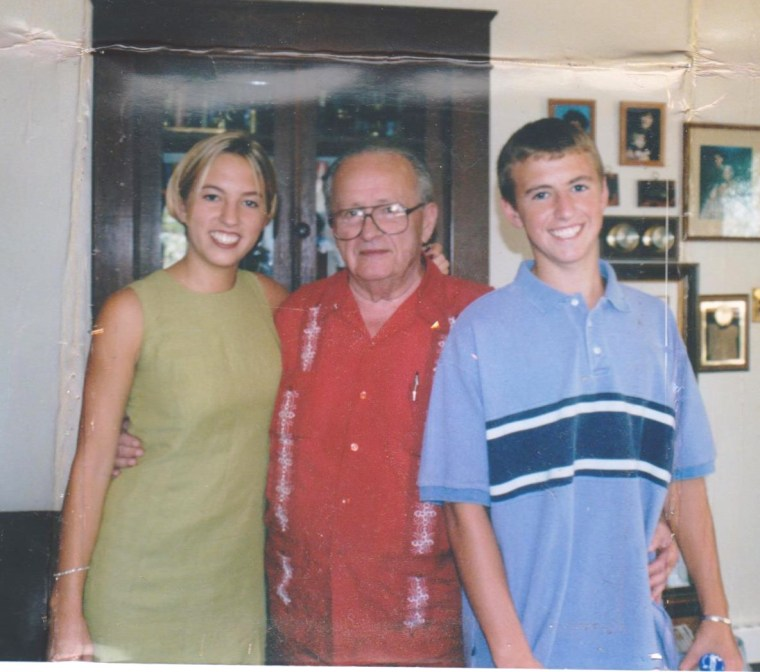 "Back in 1998 with my Grandpa Lloyd, Author of ""Lloyd`s View from the Bottom"" and my brother, Sammy. I never thought 1998 would sound like such a far away time. ;)"