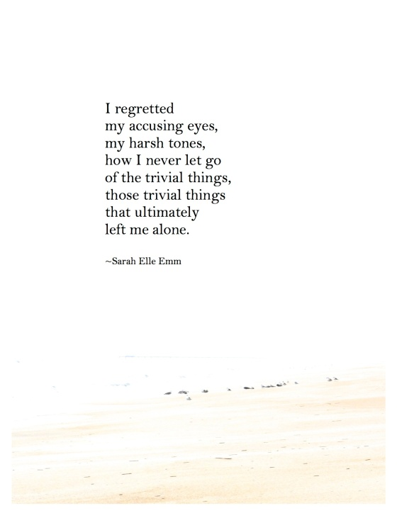 poem she regretted copy